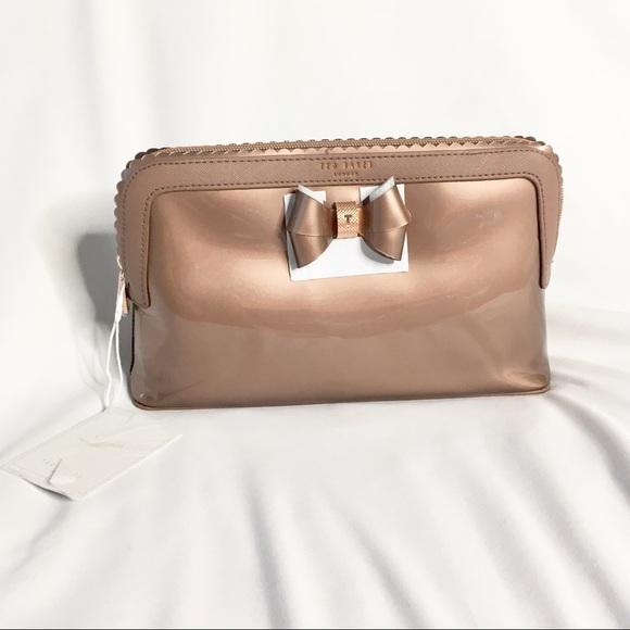 bbc7623b7118 NWT Ted Baker Rosegold Make Up Bag